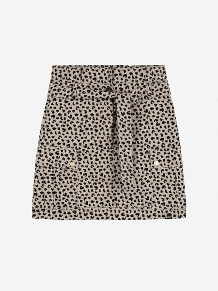 Skirt with animal print