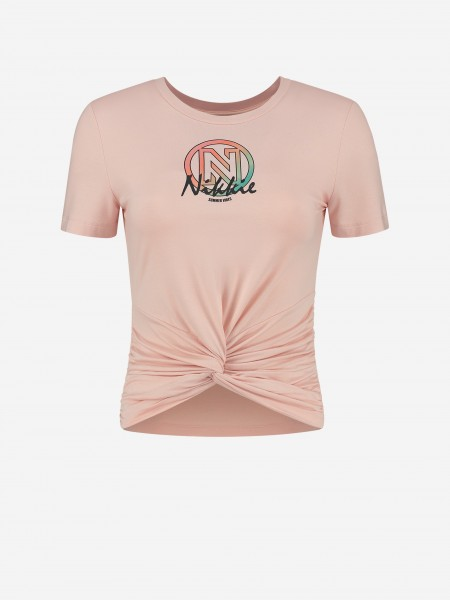 CROPPED T-SHIRT WITH NIKKIE ARTWORK