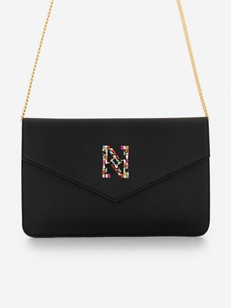 Black bag with glitter N logo