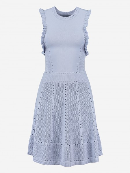 KNITTED DRESS WITH RUFFLES