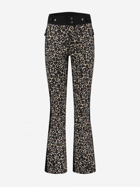 Leopard print ski pants