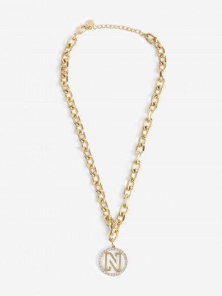 Necklace with rhinestones