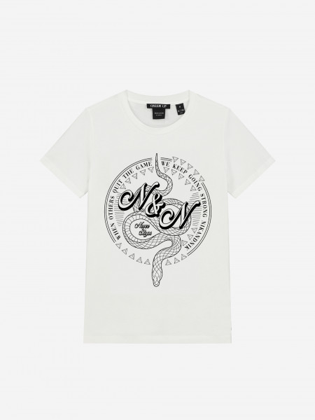 t-shirt with snake artwork