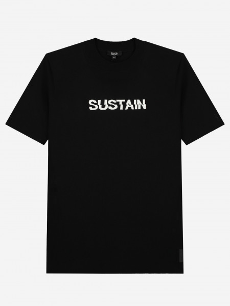KNITTED SHIRT WITH SUSTAIN LOGO