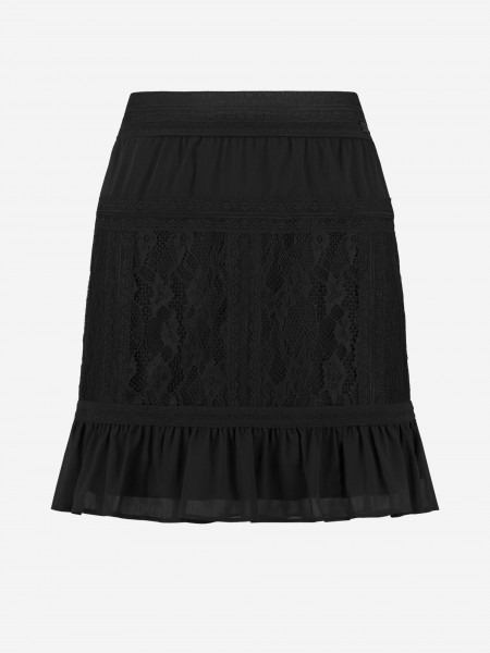 Skirt with lace details