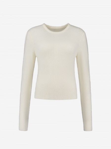 KNITTED SWEATER WITH PUFF SLEEVES