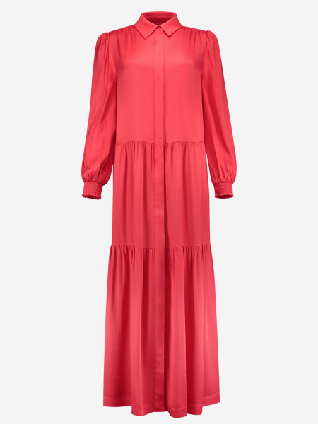 DRESS WITH COLLAR AND RUFFLES