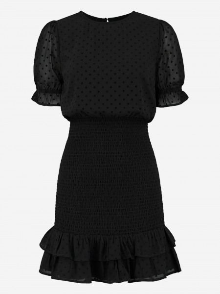 DRESS WITH RUFFLES AND DOTS