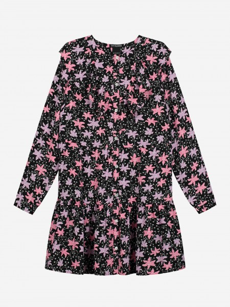 Dress with flower pattern