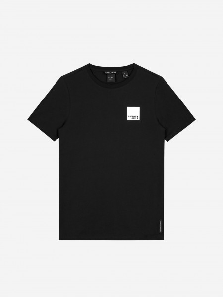 Black t-shirt with QR code