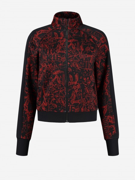 Jacket with all over pop-art print
