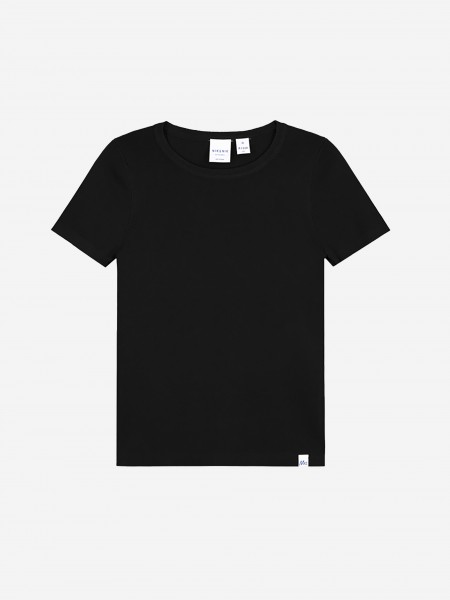 Black top with short sleeves