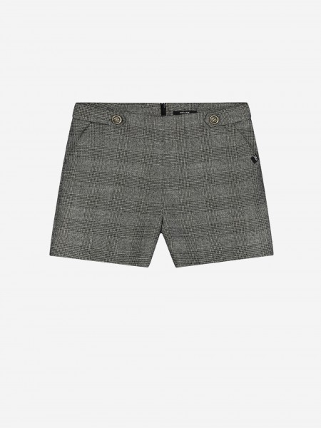 Shorts with check print