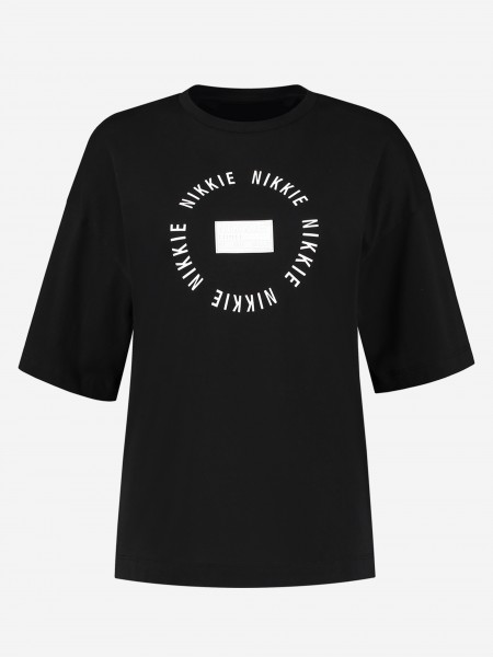 T-SHIRT WITH NIKKIE LOGO PATCH