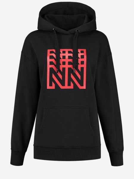 Black hoodie with N-artwork