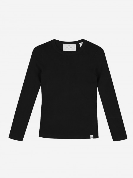 Black top with long sleeves
