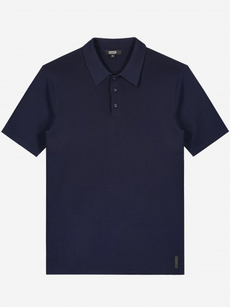 Knitted polo with three button closure