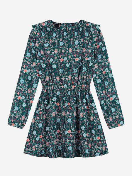 DRESS WITH ALL-OVER FLOWER PRINT