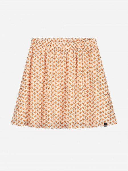 SKIRT WITH ALL OVER N PRINT