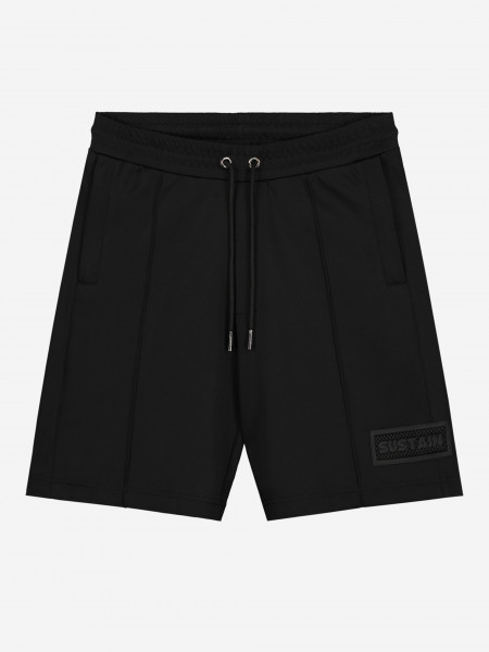TRACK SHORTS WITH LOGO PATCH