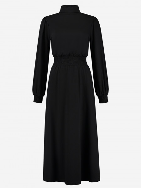 maxi dress with turtleneck and waist band