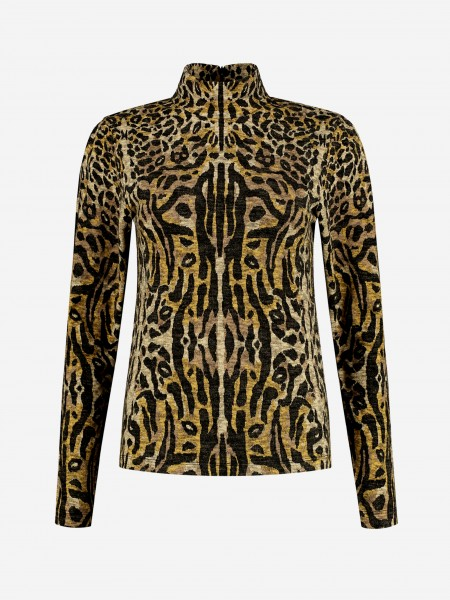 Longsleeve with animal print