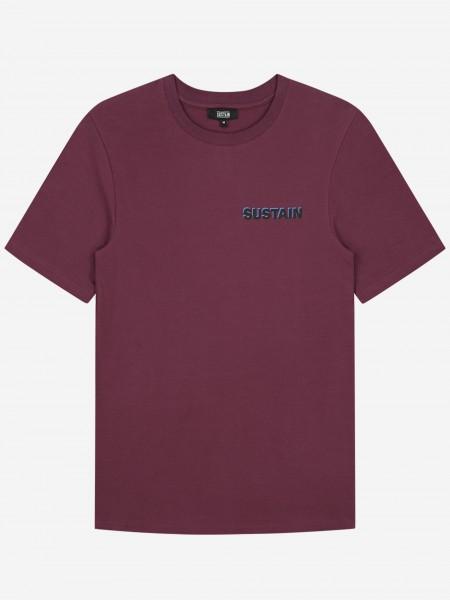 Purple t-shirt with logo