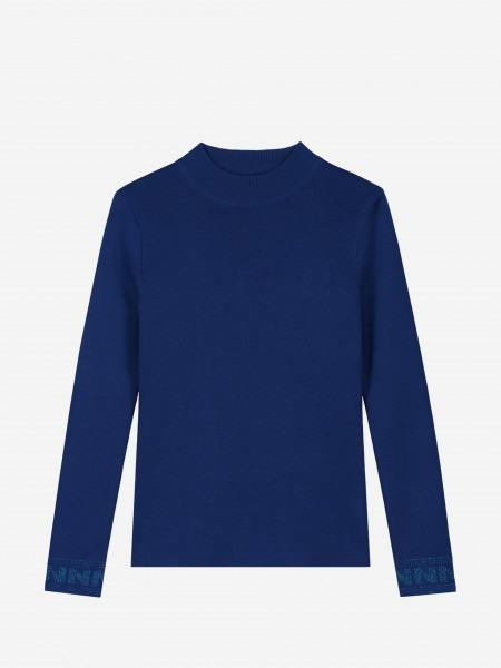 Fitted high neck sweater