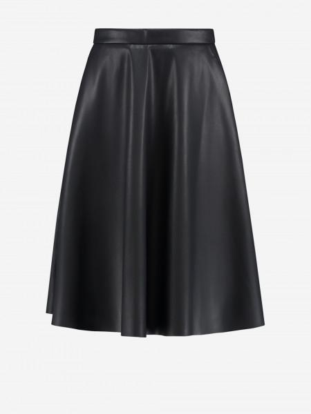 Midi Skirt of Vegan Leather
