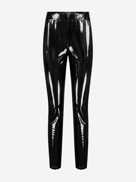 Lacquer leather legging