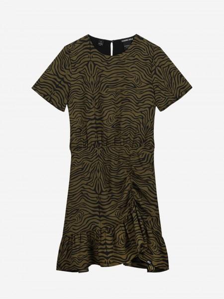 Dress with zebra print