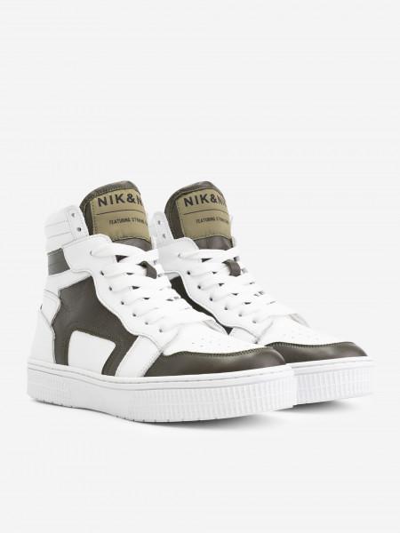High Sneaker with Dark Green