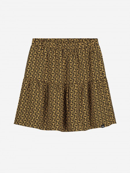 Gold skirt with N print