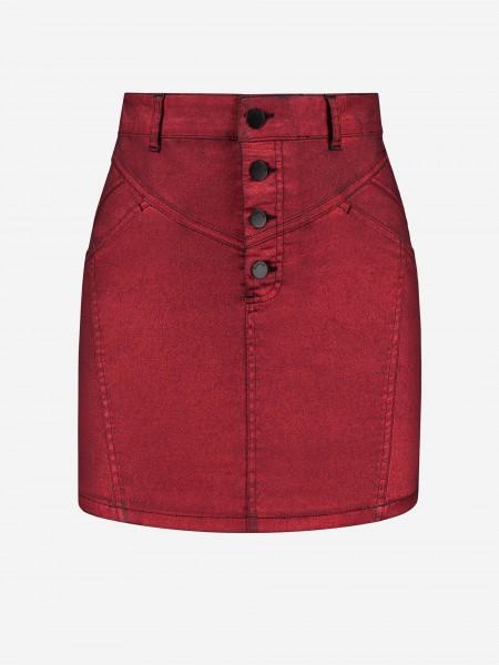 Red shiny skirt