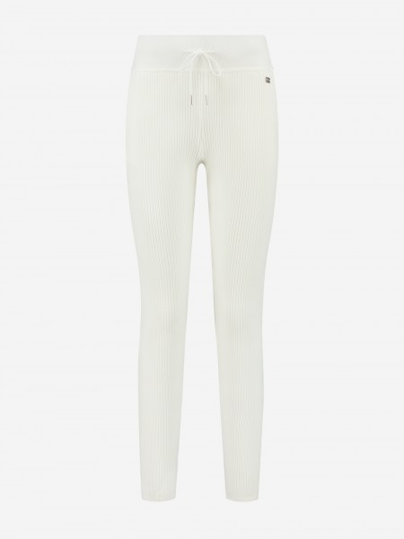 SWEATPANTS WITH RIB STRUCTURE