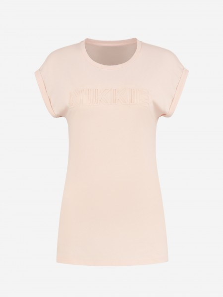 T-SHIRT WITH EMBOSSED NIKKIE LOGO