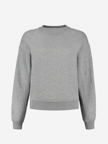 Sweater with F embroidery