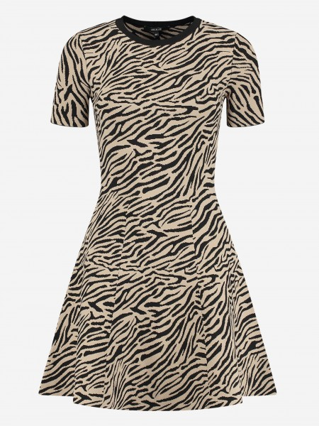 DRESS WITH ALL-OVER ZEBRA PRINT