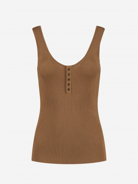 RIB TOP WITH BUTTONS