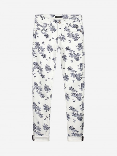 Off white pants with print