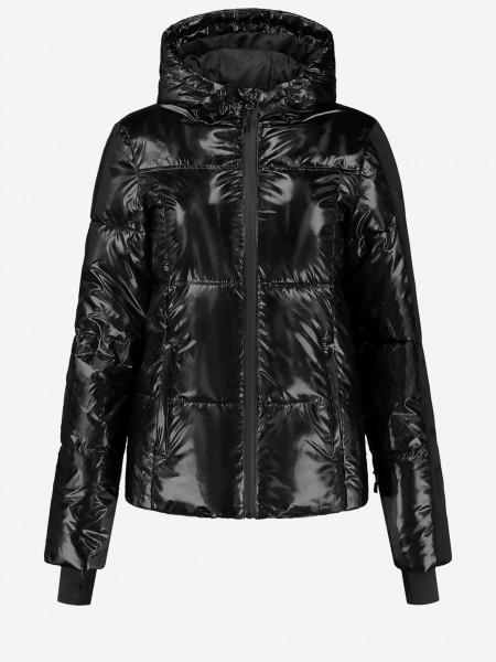 Black ski jacket with NIKKIE logo