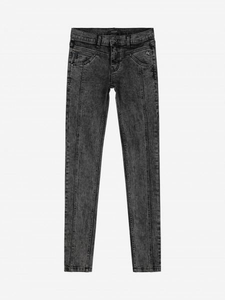 Grey skinny denim pants