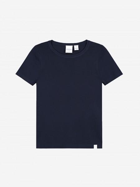 Dark blue top with short sleeves