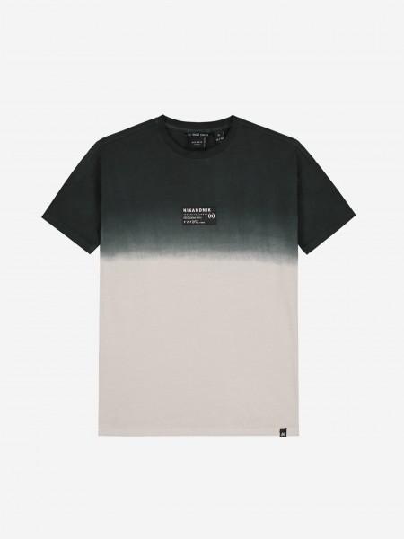 Beige dip dye t-shirt