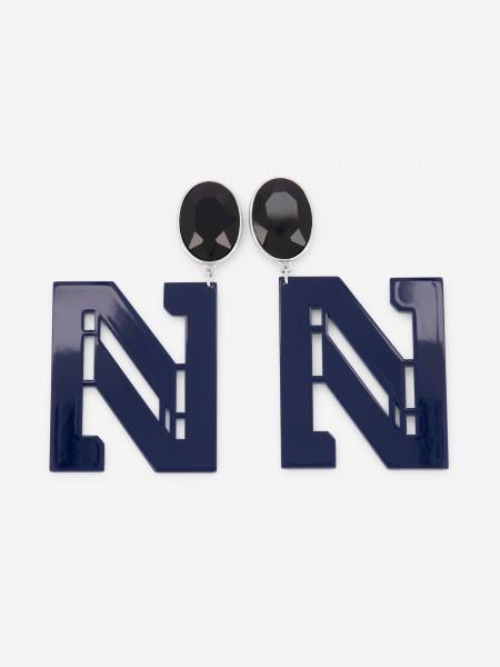 Blue N earrings