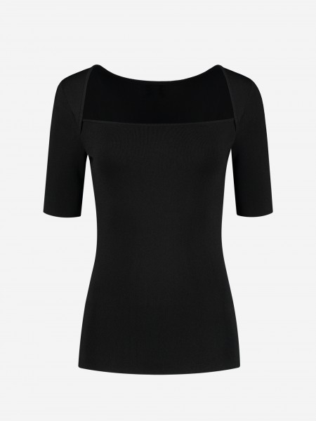 Black top with boatneck