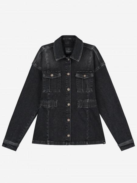 Denim jacket with artwork