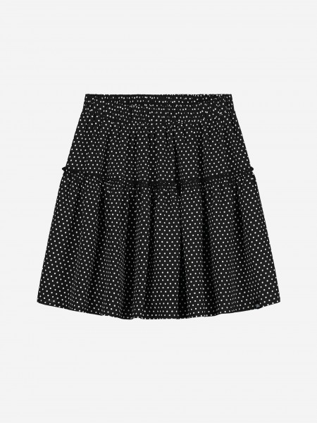 Skirt with all over dot print
