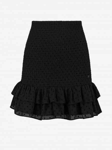 SKIRT WITH RUFFLES AND DOTS
