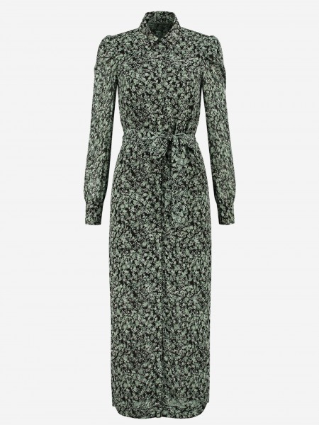Maxi dress with subtle flower print